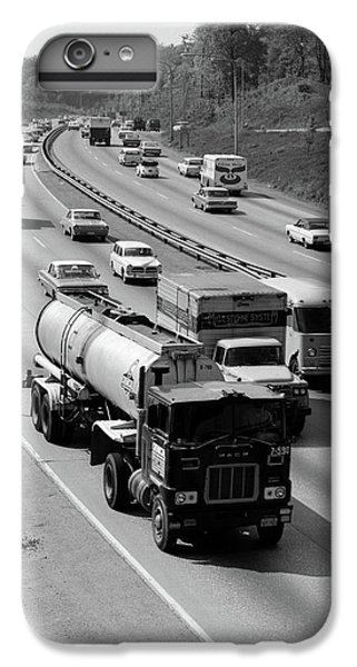 1960s Tanker Truck Traveling On Busy IPhone 6 Plus Case