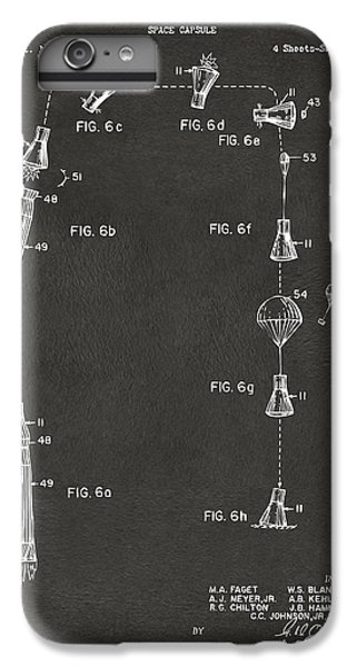 1963 Space Capsule Patent Gray IPhone 6 Plus Case by Nikki Marie Smith