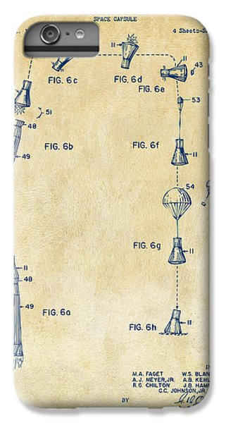 1963 Space Capsule Patent Vintage IPhone 6 Plus Case by Nikki Marie Smith