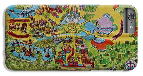 Magician iPhone 6 Plus Case - 1971 Original Map Of The Magic Kingdom by Rob Hans