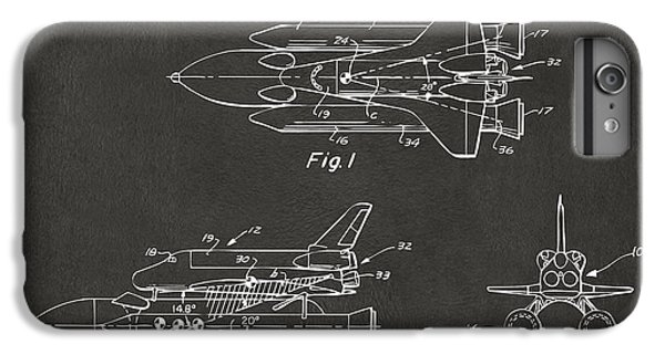 Space Ships iPhone 6 Plus Case - 1975 Space Shuttle Patent - Gray by Nikki Marie Smith
