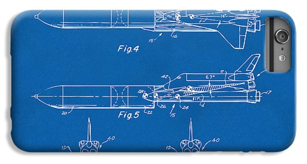 1975 Space Vehicle Patent - Blueprint IPhone 6 Plus Case by Nikki Marie Smith