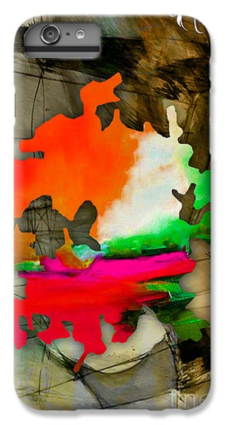 Austin Map Watercolor IPhone 6 Plus Case by Marvin Blaine