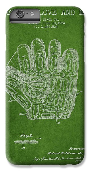 Baseball Glove Patent Drawing From 1924 IPhone 6 Plus Case by Aged Pixel