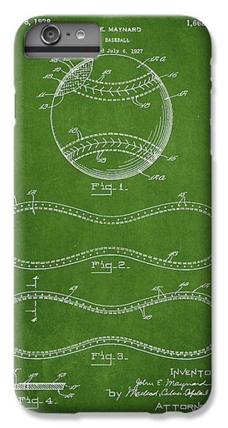 Baseball Patent Drawing From 1927 IPhone 6 Plus Case by Aged Pixel