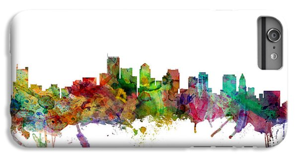 Boston Massachusetts Skyline IPhone 6 Plus Case by Michael Tompsett