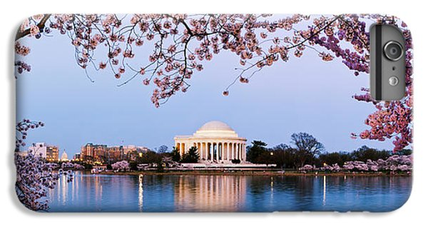 Cherry Blossom Tree With A Memorial IPhone 6 Plus Case by Panoramic Images