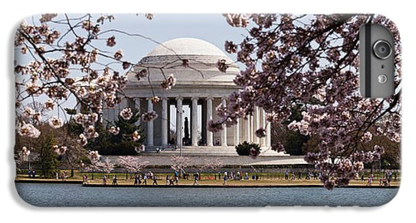 Jefferson Memorial iPhone 6 Plus Case - Cherry Blossom Trees In The Tidal Basin by Panoramic Images