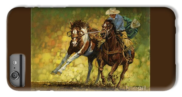 Horse iPhone 6 Plus Case - Rodeo Pickup by Don  Langeneckert