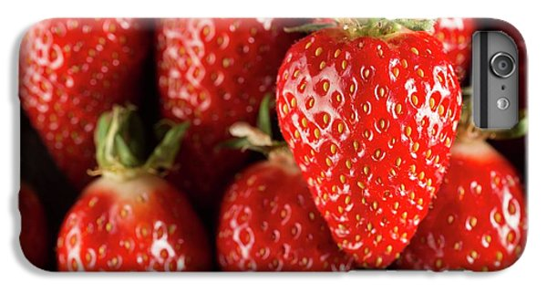 Gariguette Strawberries IPhone 6 Plus Case by Aberration Films Ltd