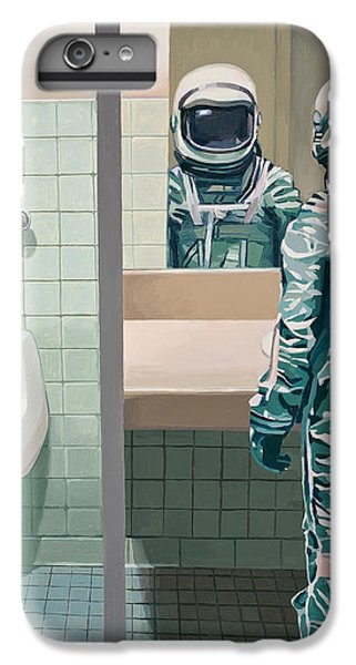 IPhone 6 Plus Case featuring the painting Men's Room by Scott Listfield
