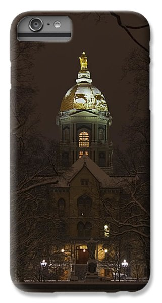 Notre Dame Golden Dome Snow IPhone 6 Plus Case by John Stephens