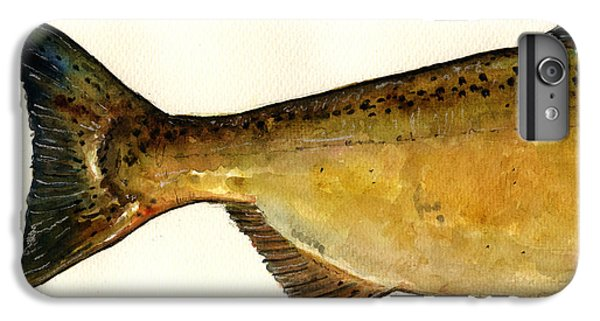Salmon iPhone 6 Plus Case - 2 Part Chinook King Salmon by Juan  Bosco
