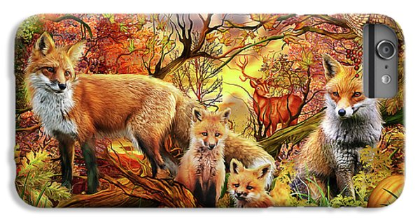 IPhone 6 Plus Case featuring the drawing Spirit Of Autumn by Ciro Marchetti