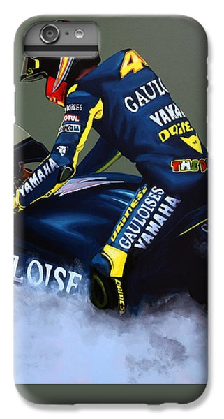 Motorcycle iPhone 6 Plus Case - Valentino Rossi by Paul Meijering