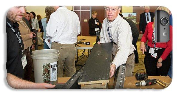 Volunteers Making Bat Houses IPhone 6 Plus Case by Jim West