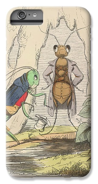 Grasshopper iPhone 6 Plus Case - Aesop Fables by British Library