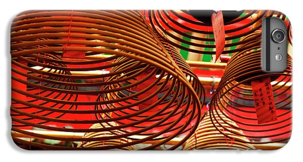 China, Hong Kong, Spiral Incense Sticks IPhone 6 Plus Case by Terry Eggers