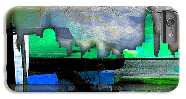 Manhattan Skyline Watercolor IPhone 6 Plus Case