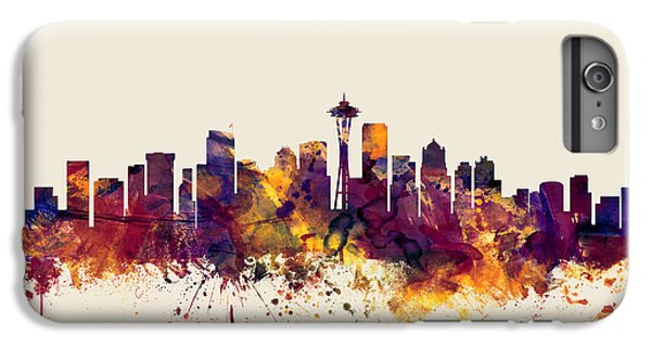 Seattle Washington Skyline IPhone 6 Plus Case by Michael Tompsett