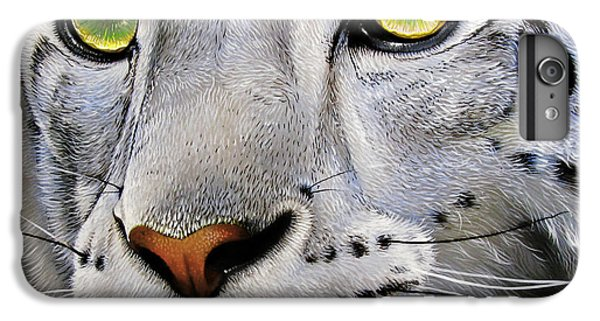 Snow Leopard IPhone 6 Plus Case by Jurek Zamoyski