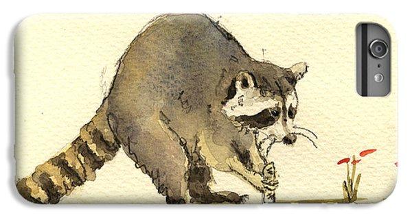 Raccoon  IPhone 6 Plus Case by Juan  Bosco