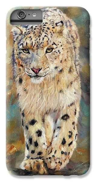 Snow Leopard IPhone 6 Plus Case by David Stribbling