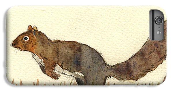 Squirrel iPhone 6 Plus Case - Squirrel by Juan  Bosco