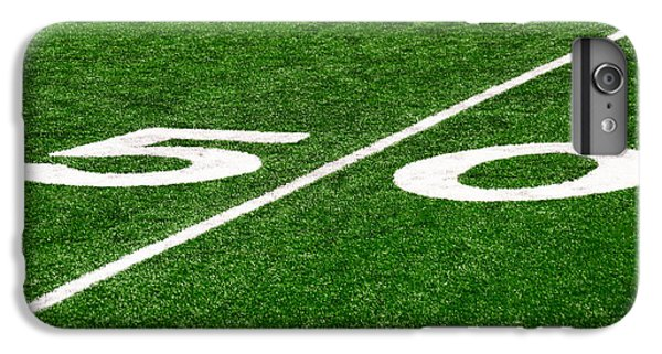 50 Yard Line On Football Field IPhone 6 Plus Case