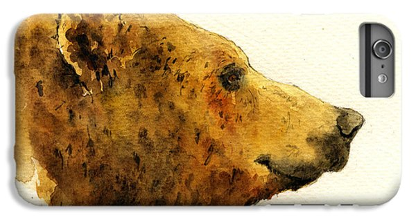 Grizzly Bear IPhone 6 Plus Case by Juan  Bosco