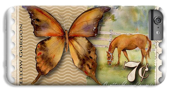 7 Cent Butterfly Stamp IPhone 6 Plus Case by Amy Kirkpatrick