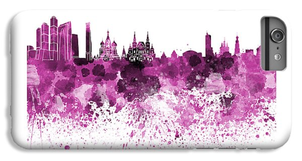 Moscow Skyline White Background IPhone 6 Plus Case by Pablo Romero