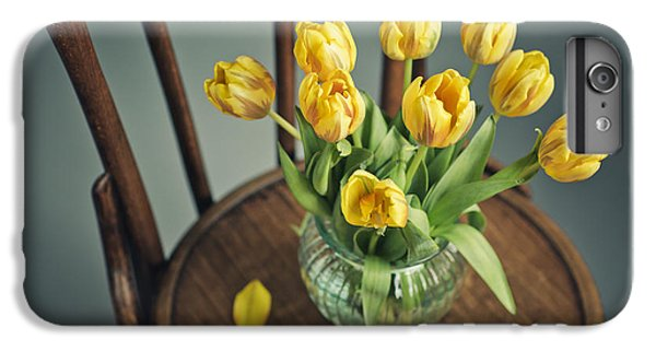 Tulip iPhone 6 Plus Case - Still Life With Yellow Tulips by Nailia Schwarz