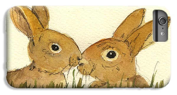 Rabbit iPhone 6 Plus Case - Hare by Juan  Bosco