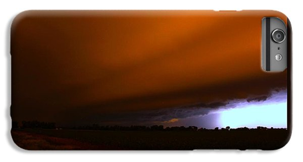 Nebraskasc iPhone 6 Plus Case - Late Night Nebraska Shelf Cloud by NebraskaSC