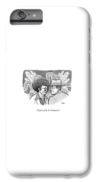 Jack Nicholson iPhone 6 Plus Case - A 70's Disco Man Speaks To Jack Nicholson's by Benjamin Schwartz
