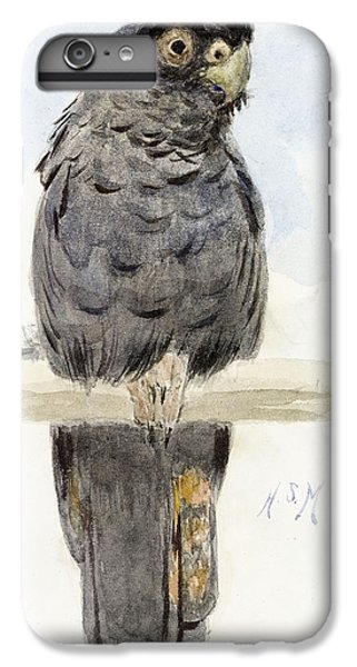 Cockatoo iPhone 6 Plus Case - A Black Cockatoo by Henry Stacey Marks