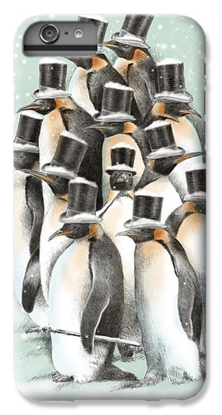Penguin iPhone 6 Plus Case - A Gathering In The Snow by Eric Fan