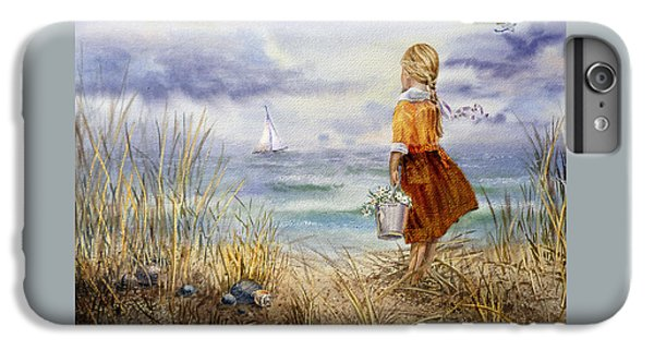 A Girl And The Ocean IPhone 6 Plus Case by Irina Sztukowski