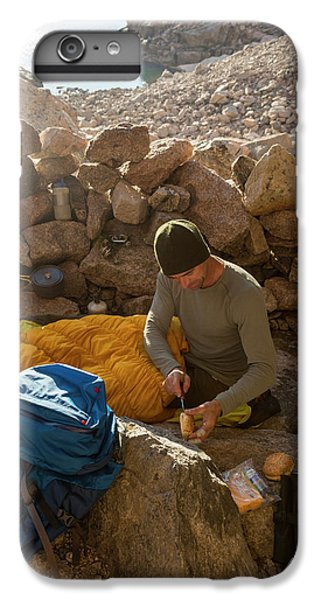 Knit Hat iPhone 6 Plus Case - A Male Mountain Climber Getting Ready by Kennan Harvey