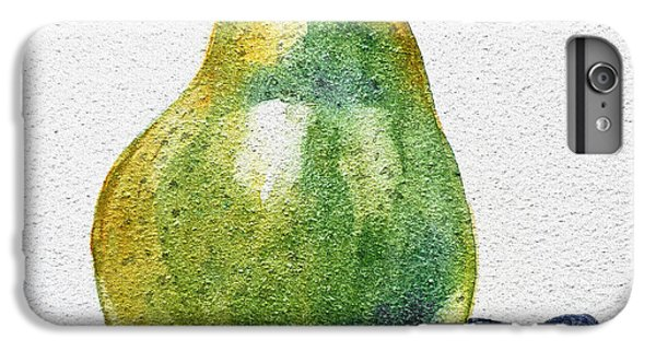 Fruit iPhone 6 Plus Case - A Pear by Irina Sztukowski