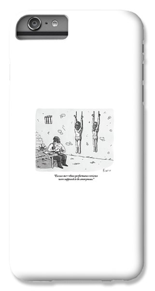 Dungeon iPhone 6 Plus Case - A Prisoner In A Dungeon Speaks To A Torturer Who by Zachary Kanin