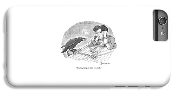 A Raven Is About To Add An N To The Word Evermore IPhone 6 Plus Case by David Borchart
