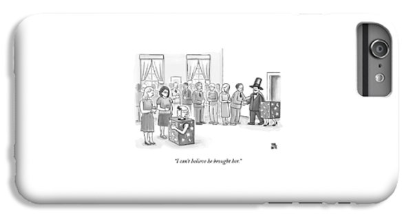 A Sawed-in-half Magician's Assistant Scowls IPhone 6 Plus Case by Paul Noth