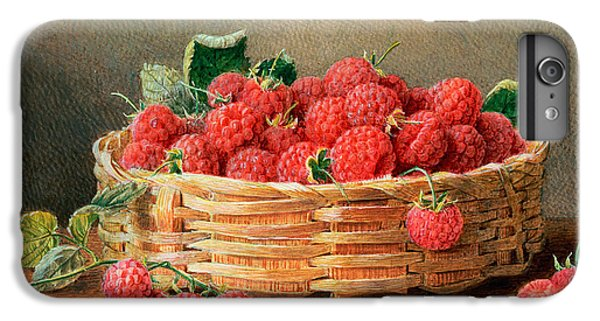 A Still Life Of Raspberries In A Wicker Basket  IPhone 6 Plus Case by William B Hough
