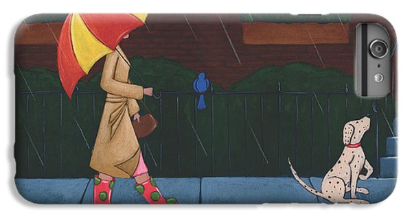 A Walk On A Rainy Day IPhone 6 Plus Case by Christy Beckwith