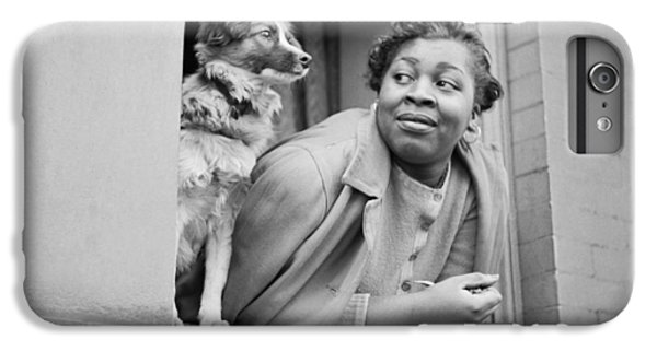 Harlem iPhone 6 Plus Case - A Woman And Her Dog by Gordon Parks