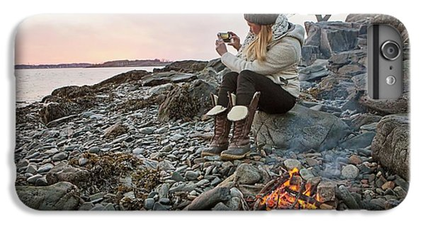 Knit Hat iPhone 6 Plus Case - A Woman Takes A Cell Phone Picture by Chris Bennett