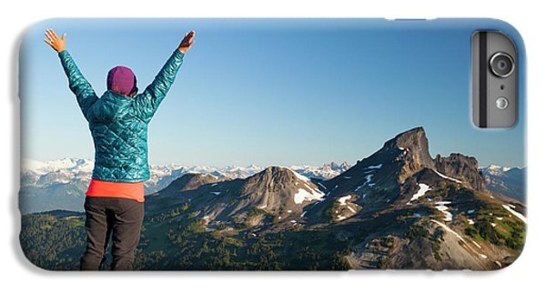 Knit Hat iPhone 6 Plus Case - A Young Woman Celebrates After Reaching by Christopher Kimmel