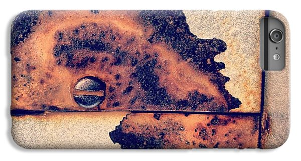Orange iPhone 6 Plus Case - Absract Rust by Christy Beckwith